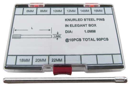 Ø1.00mm Knurled Pins