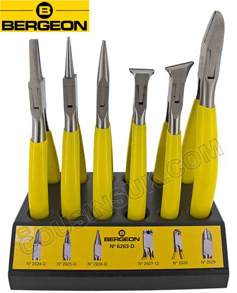 Bergeon (Smooth & Cutters) on Stand (Bergeon 6283D)