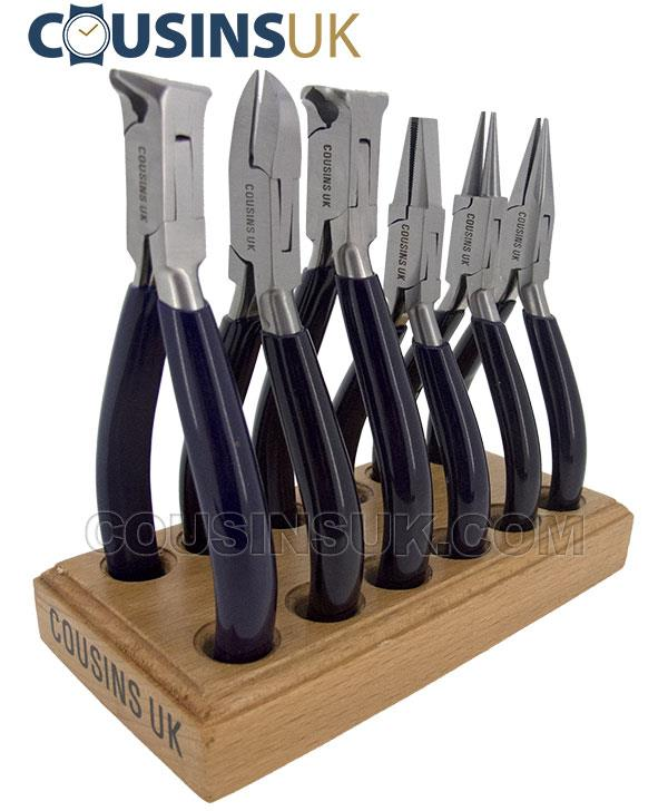 Cousins Swiss Style (Serrated & Cutters) on Stand (x6)