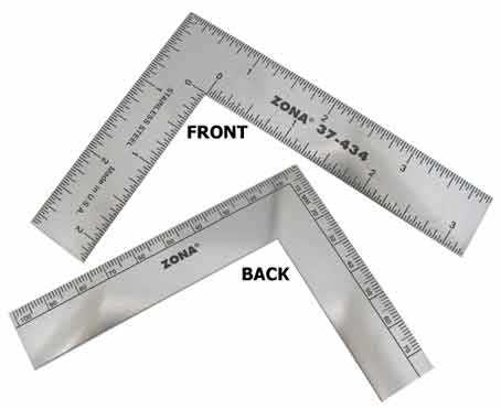 "L-Shaped Ruler 75mm x 100mm (3"" x 4"")"