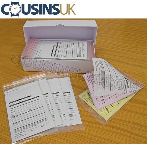 Repair Job Envelopes - Plastic