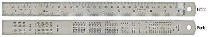 "300mm (12"") Steel Ruler"