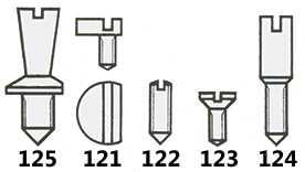 Dial Screws (Wristwatch) Graded