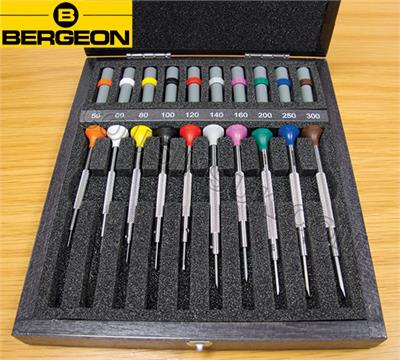 Bergeon Screwdrivers in Wooden box