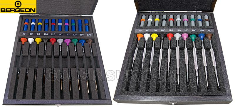 Bergeon Screwdriver Sets, Wooden Cases