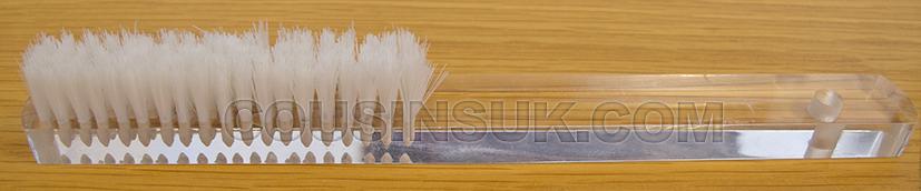 Soft Bristle Brush (4 Row), Clear Handle
