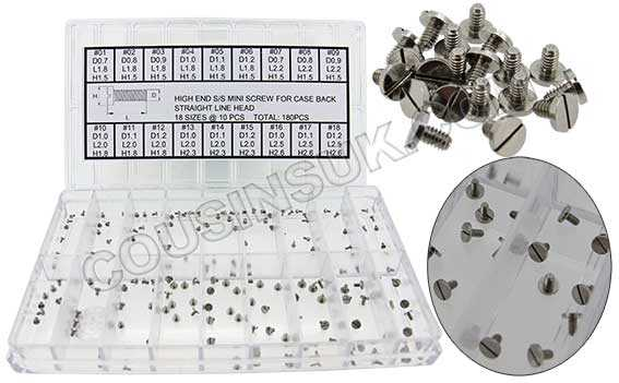 Case Back Screws, Sets or Individual Sizes