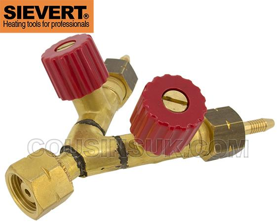 Sievert Y Connector with Two Way Valve