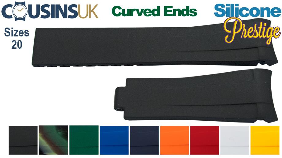 Silicone, Omega & Rolex (Curved Ends)