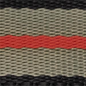 Black/grey/red 22mm
