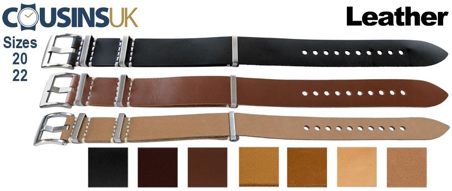 Leather - N.A.T.O. Style, Superior Buckle