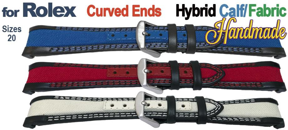 Smooth Calf & Fabric for Rolex GMT & Oyster