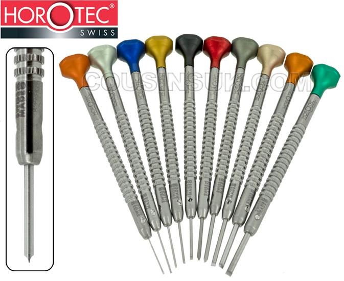 Horotec Stainless Steel, Special Knurled Parallel Blades