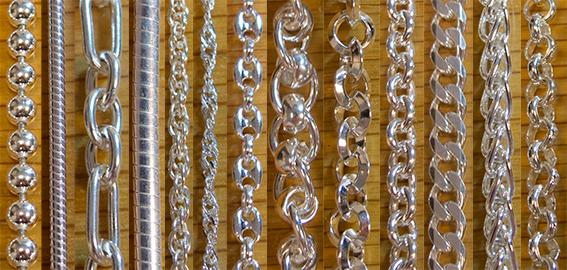 Silver Chains - Per Metre