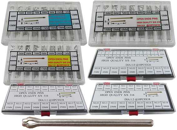 Box Sets: Ø0.80 - 1.20mm Split Pins
