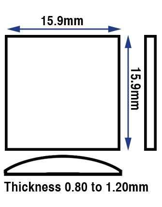 15.90 x 15.90mm (0.80 to 1.20mm) Espirit