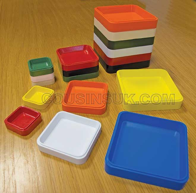 Trays, Small Square Swiss