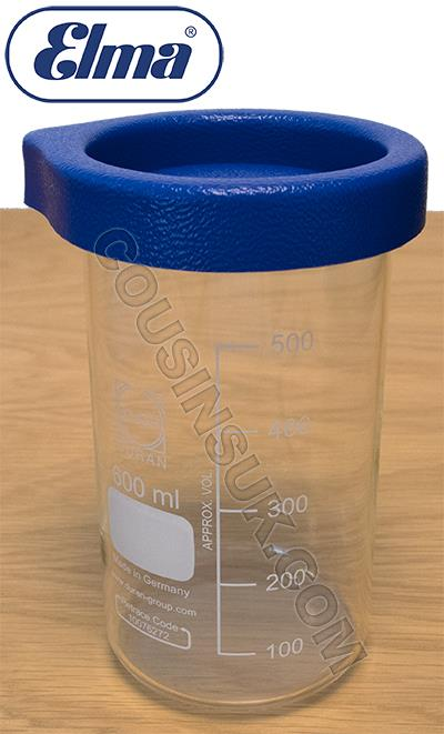 600ml Glass Beaker with Lid, Elma