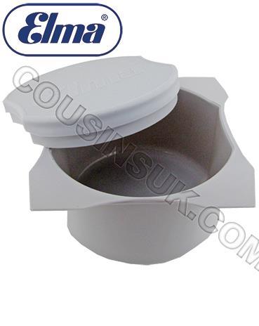 Ø80mm Pot & Lid (White) Elma