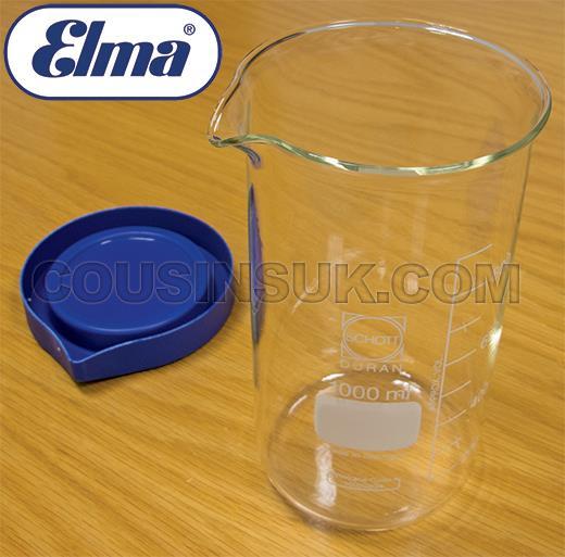 1000ml Glass Beaker with Lid, Elma