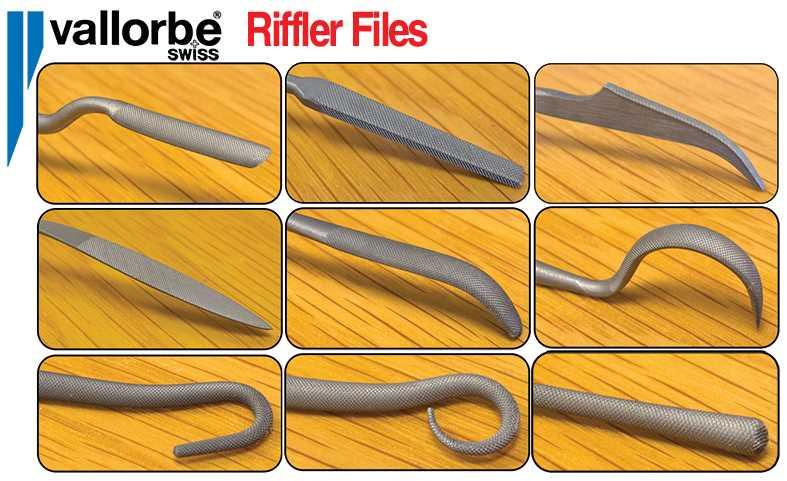 Riffler 150mm Files, Vallorbe Swiss
