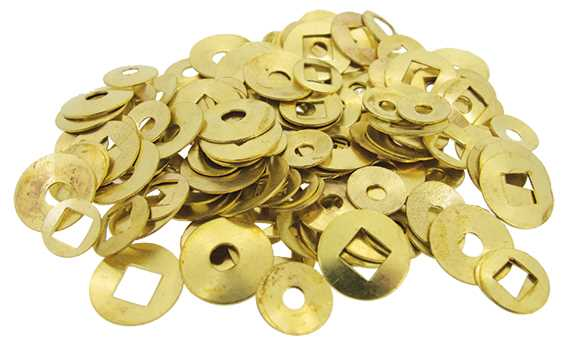 Washers, Square & Round Hole, Brass