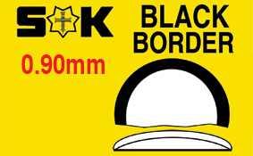 Domed, Black Border, Sternkreuz