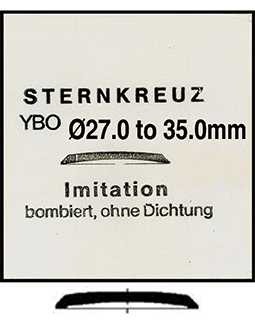Domed Bevelled Edge Sternkreuz YBO