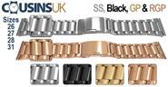Bracelets with a 26, 27, 28 & 31mm Width