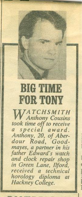 Anthony Cousins Award
