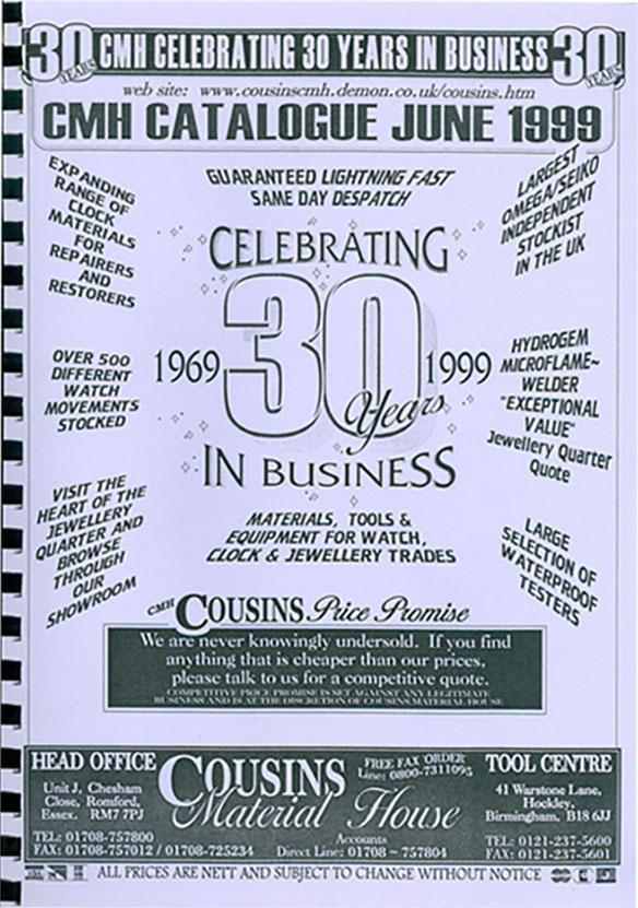 Cousins 1999 Catalogue