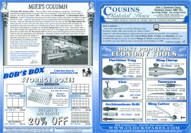 Cousins Noticeboard 2003